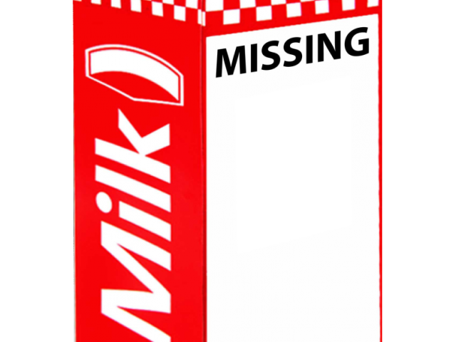 Milk carton missing png. Person template free download