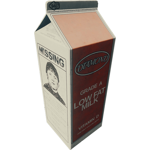 Milk carton missing png. Official the forest wiki