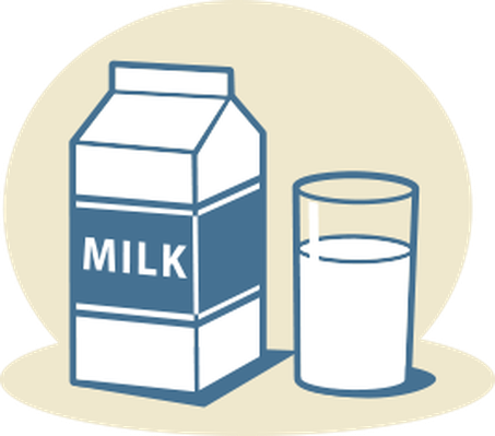 Milk clipart. Sack lunch with apple