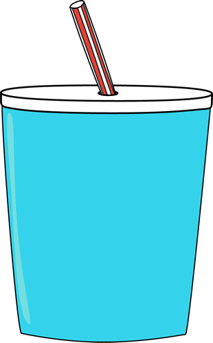 Straw clipart. Glass of milk with