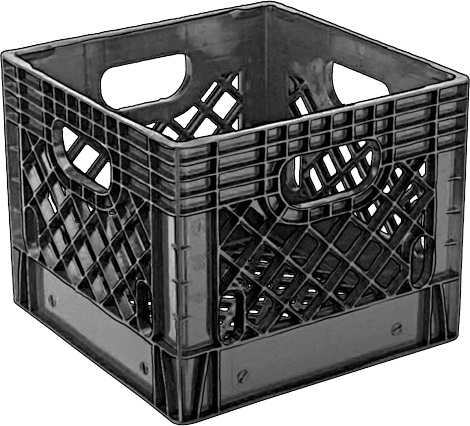 Milk crate png. Black psd official psds