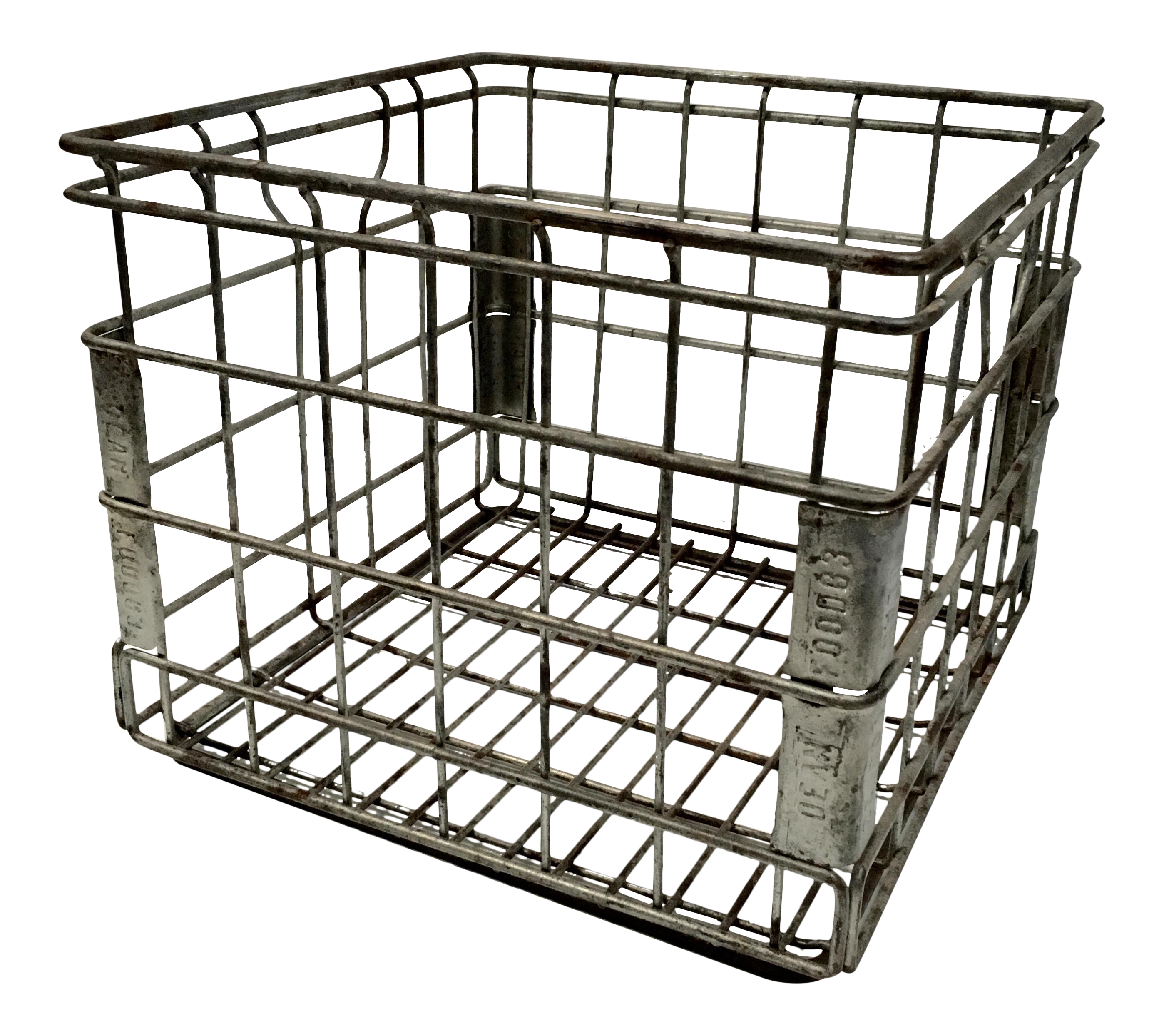 Milk crate png. Vintage metal for dean