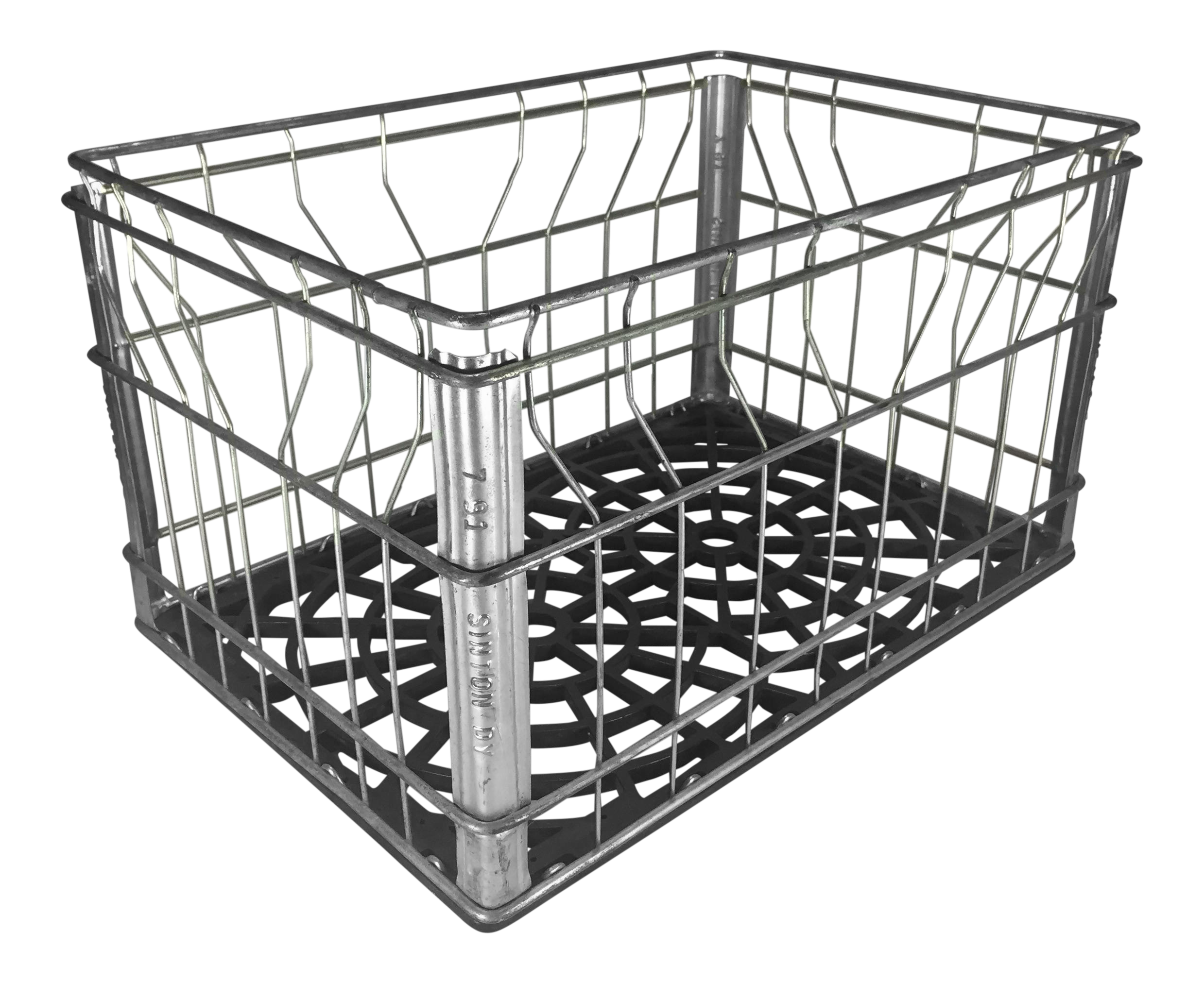 Milk crate png. Vintage industrial wire chairish