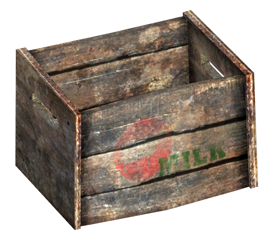 Milk crate png. Image fo fallout wiki