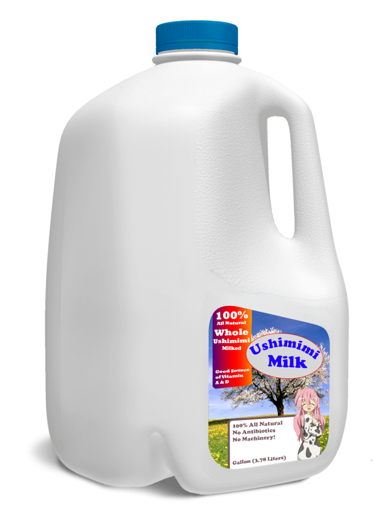 Milk gallon png. Ushimimi by distortedmouse on