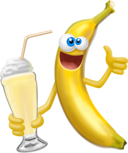 png time emoticon. Smiley clipart banana banner download