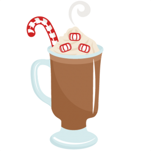 Milkshake clipart svg. Peppermint hot cocoa scrapbook