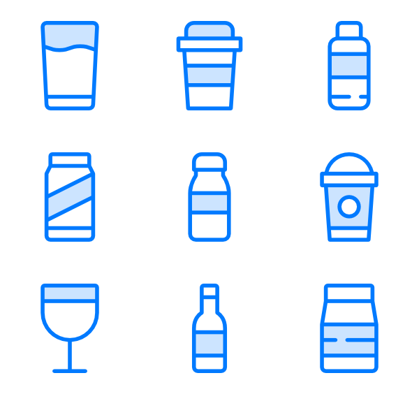 Smoothie vector. Milkshake icons free drinks