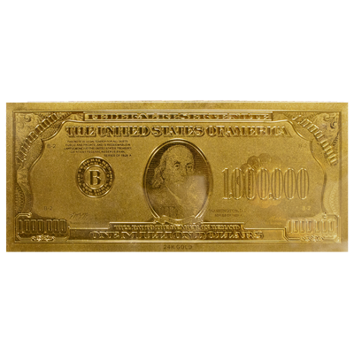 Million dollar bill png. Gold effect note please