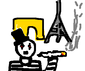 Mime drawing clipart. Stoned in paris by