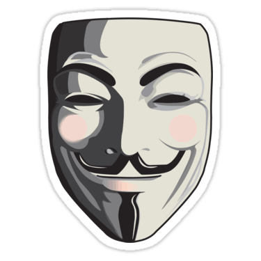 Guy fawkes sticker programming. Mime drawing drama mask graphic free library