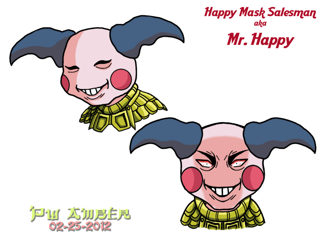Mime drawing mask. Npc happy salesman the