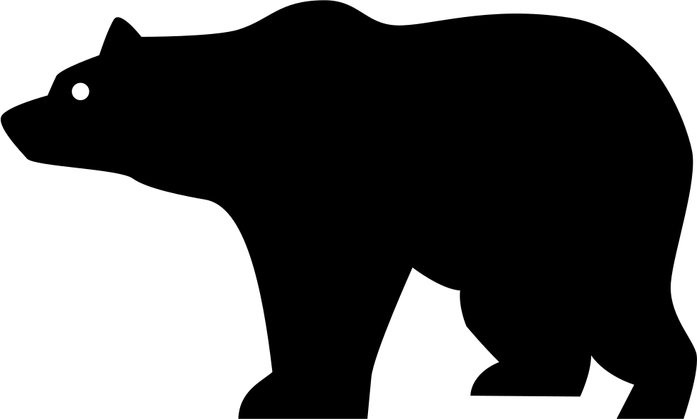 Mimi svg bear. Side view silhouette png