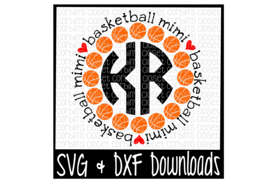 Mimi svg shirt. Free basketball circle monogram