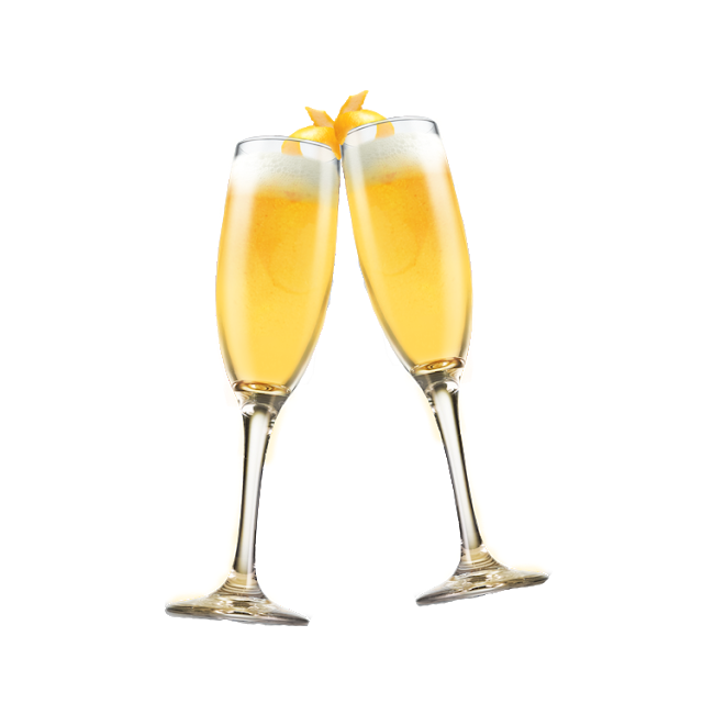 Mimosa glass png. Cocktail bellini champagne wine
