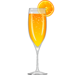 Mimosa glass png. Cocktail recipe party