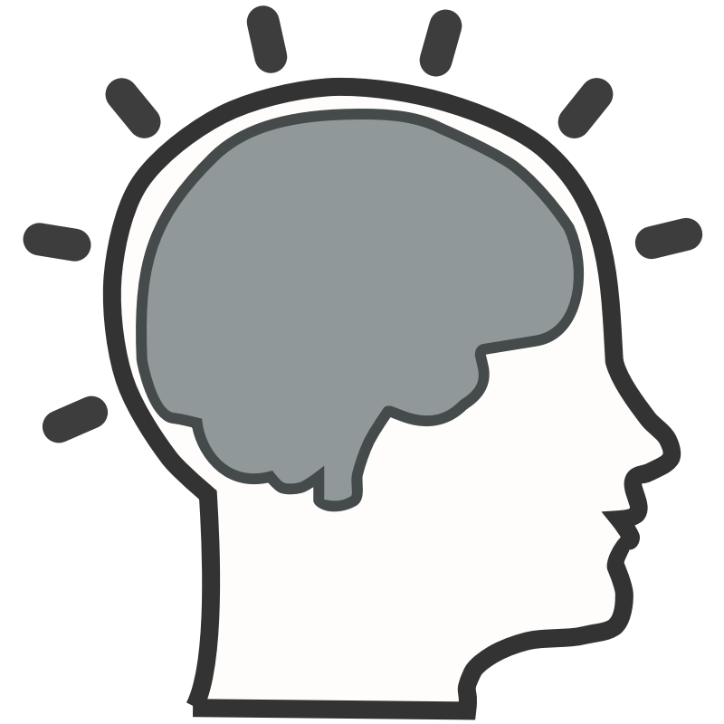 Brain clipart. Silhouette at getdrawings com