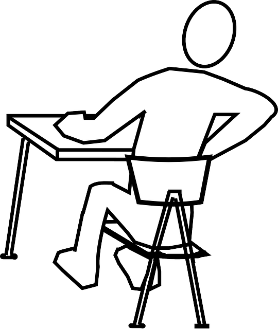 Posture drawing ergonomic. Work from om mindful