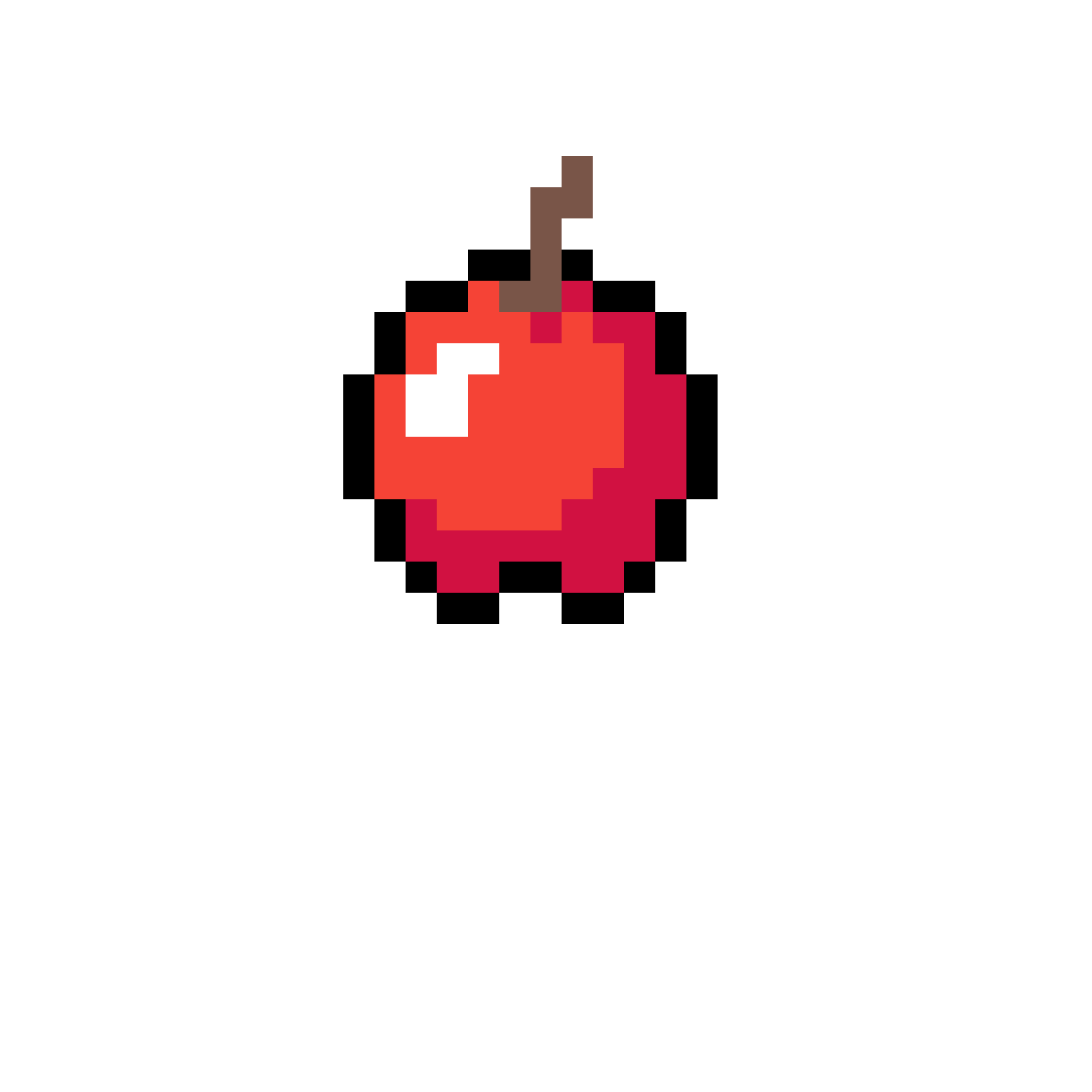 Minecraft apple png. Pixilart by angelinaawesome