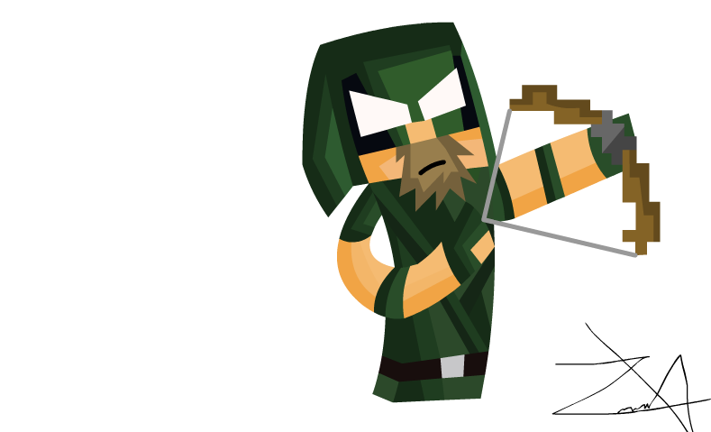 Green arrow skin draw. 49ers drawing minecraft clip art black and white library