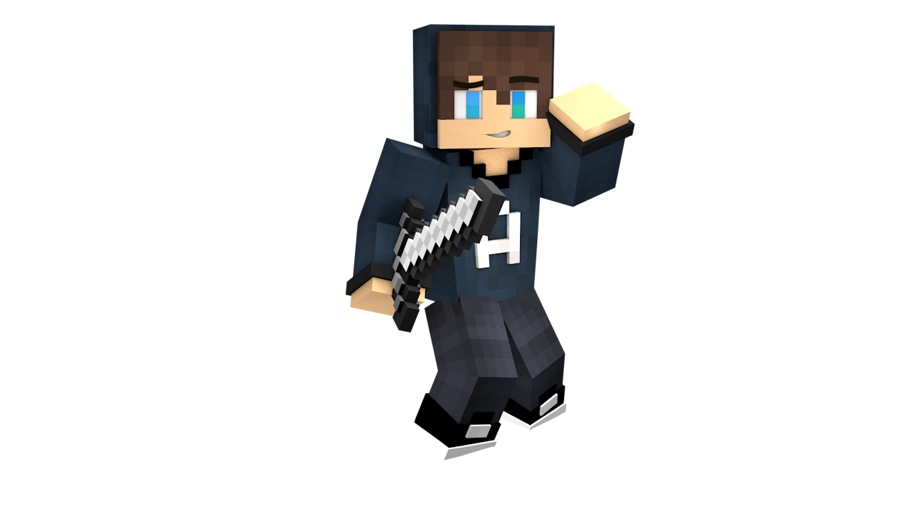 Minecraft avatar png. D extruded art shops
