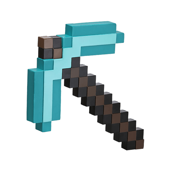 Minecraft axe png. Diamond pickaxe foam replica