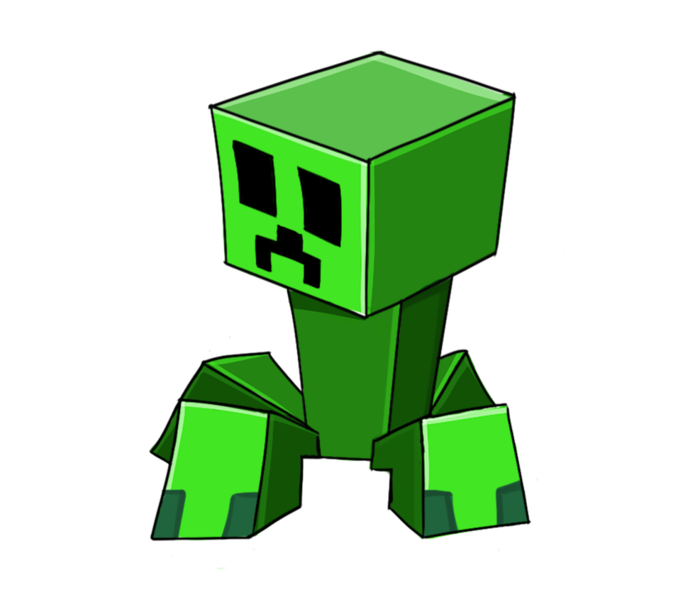Popularmmos drawing creeper. Minecraft little png redsheep