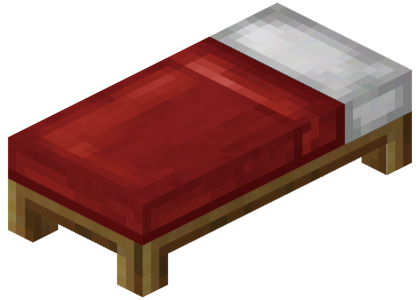 Minecraft bed png. File red official wiki