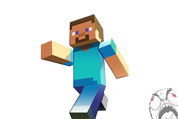 Steve transparent clipart. Free minecraft cliparts download