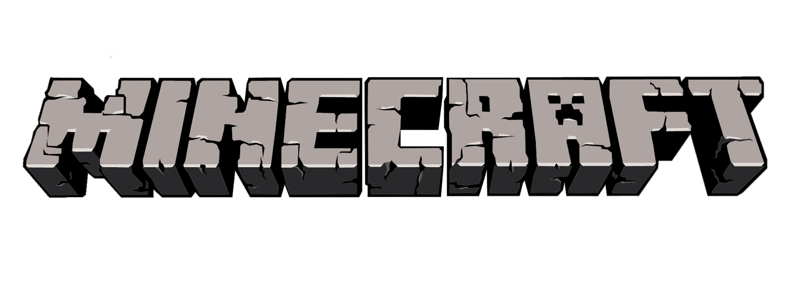 Minecraft logo . Word clipart block png royalty free download