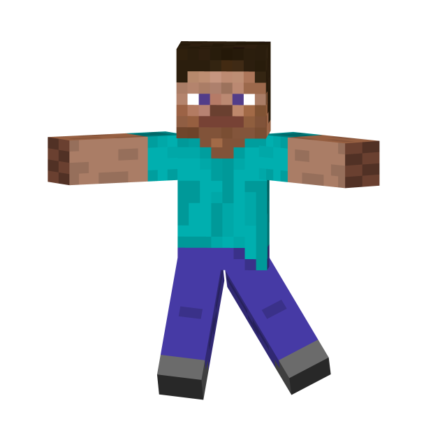 Steve transparent background. Minecraft png images free