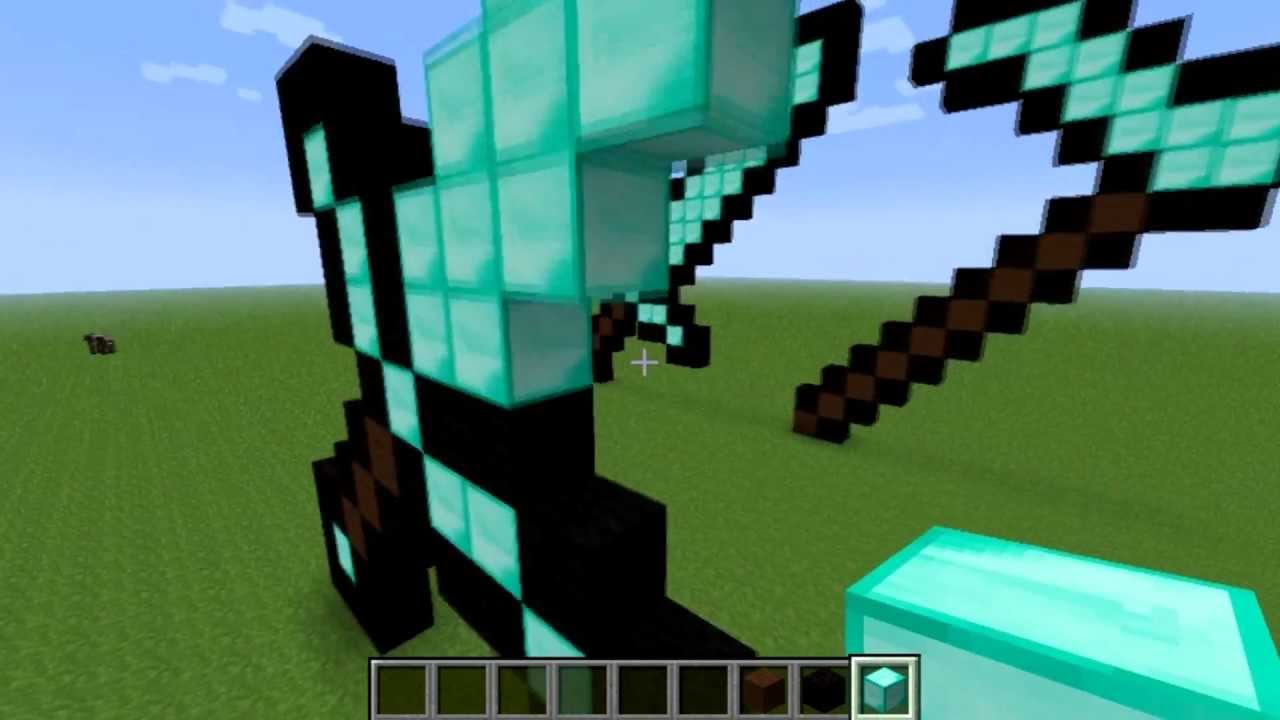 Minecraft clipart minecraft diamond sword. How to make a