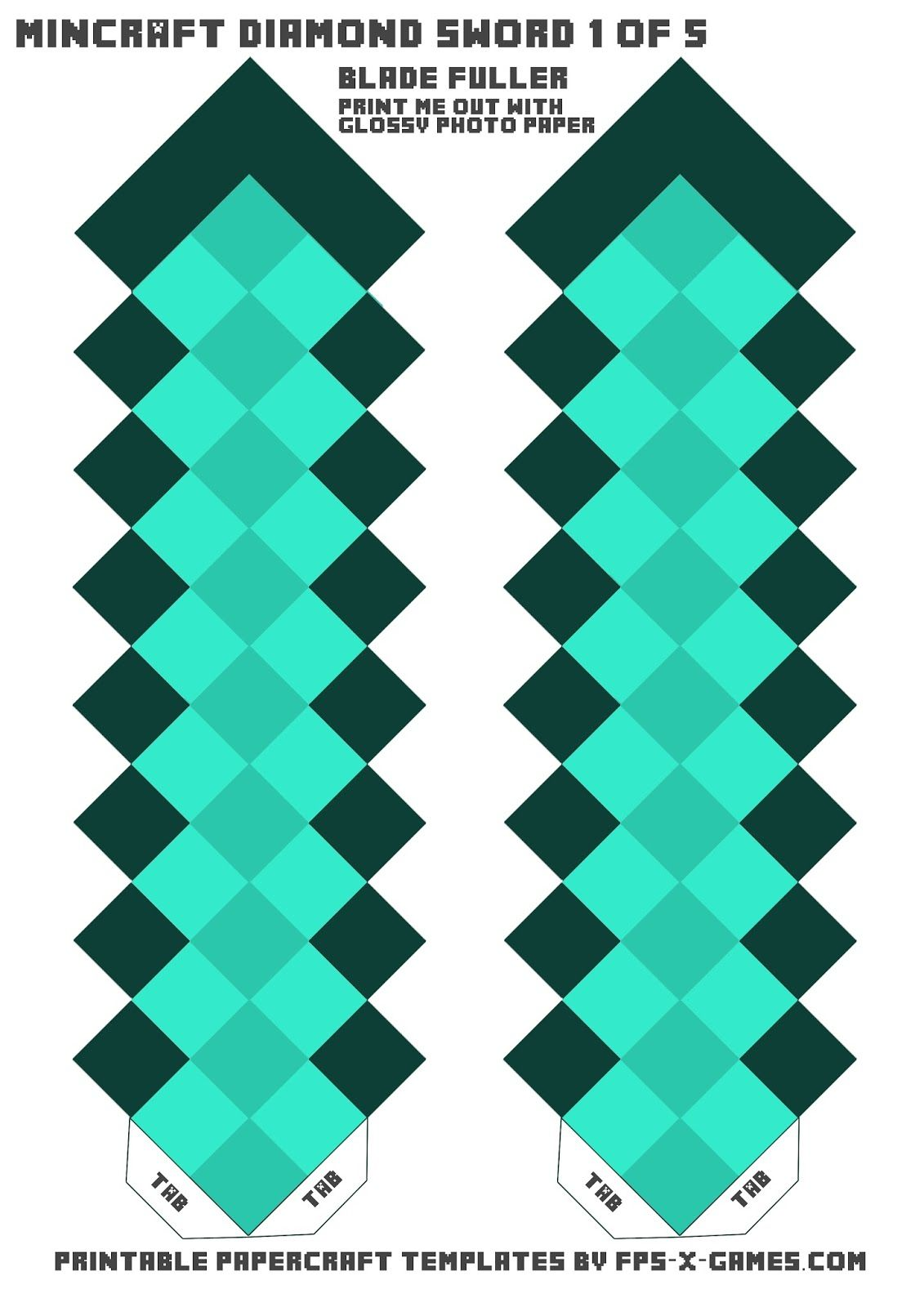 Minecraft clipart minecraft diamond sword. Template swordcreate