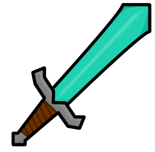 Minecraft clipart minecraft diamond sword. Drawing at getdrawings com
