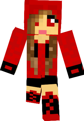 Minecraft clipart minecraft girl. Skins hoodie cute in