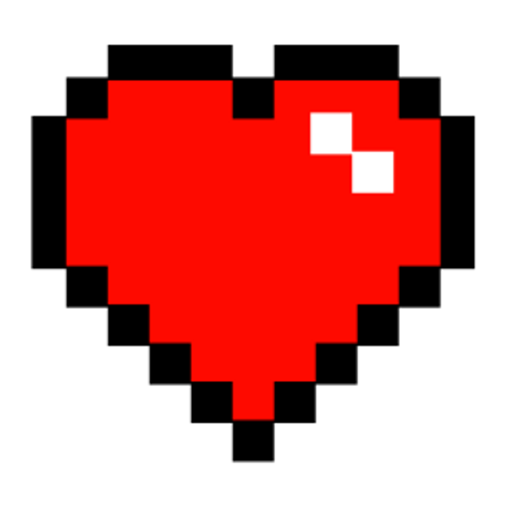 Minecraft clipart minecraft heart. Tumblr red pixel