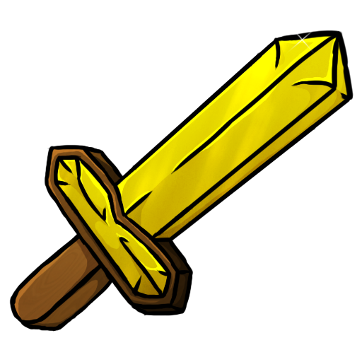 Minecraft clipart minecraft heart. Gold sword icon png