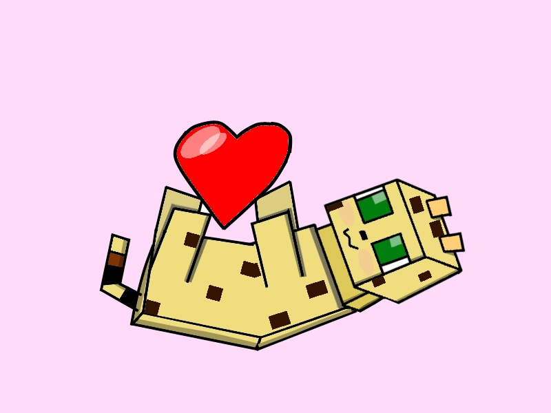 Minecraft clipart minecraft heart. Cat drawing at getdrawings