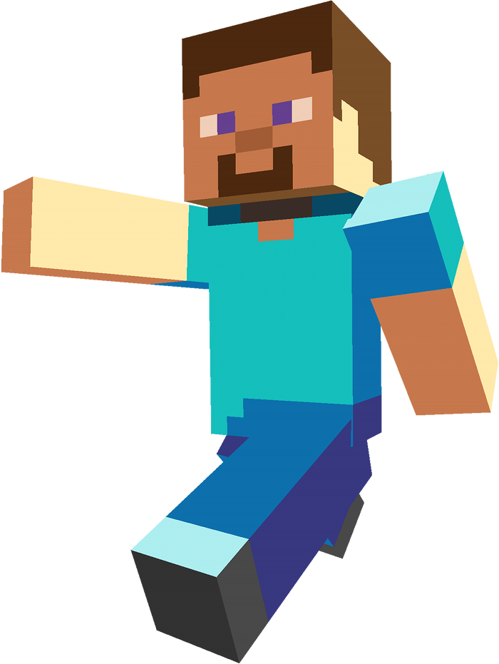 Steve transparent background. Minecraft png blue and