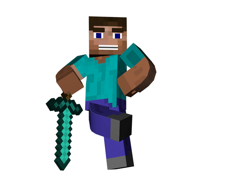 steve transparent clip art minecraft
