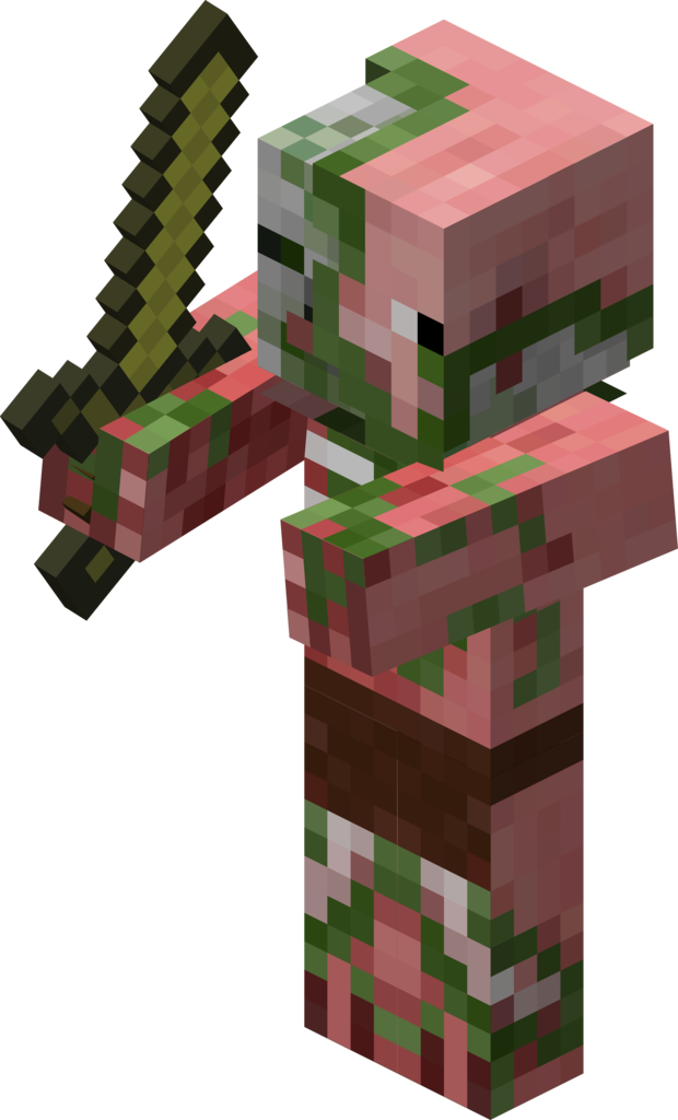 The giant zombies png. Zombie pigman official minecraft
