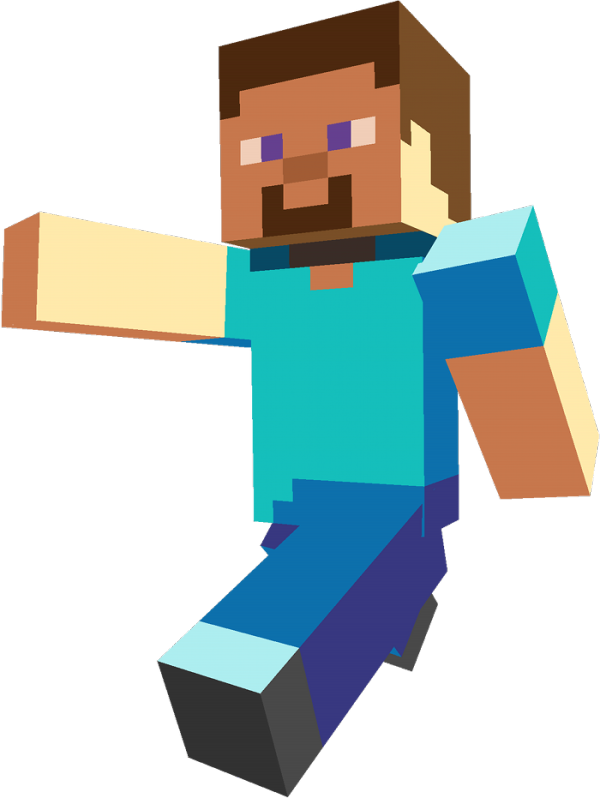 steve transparent minecraft drawing