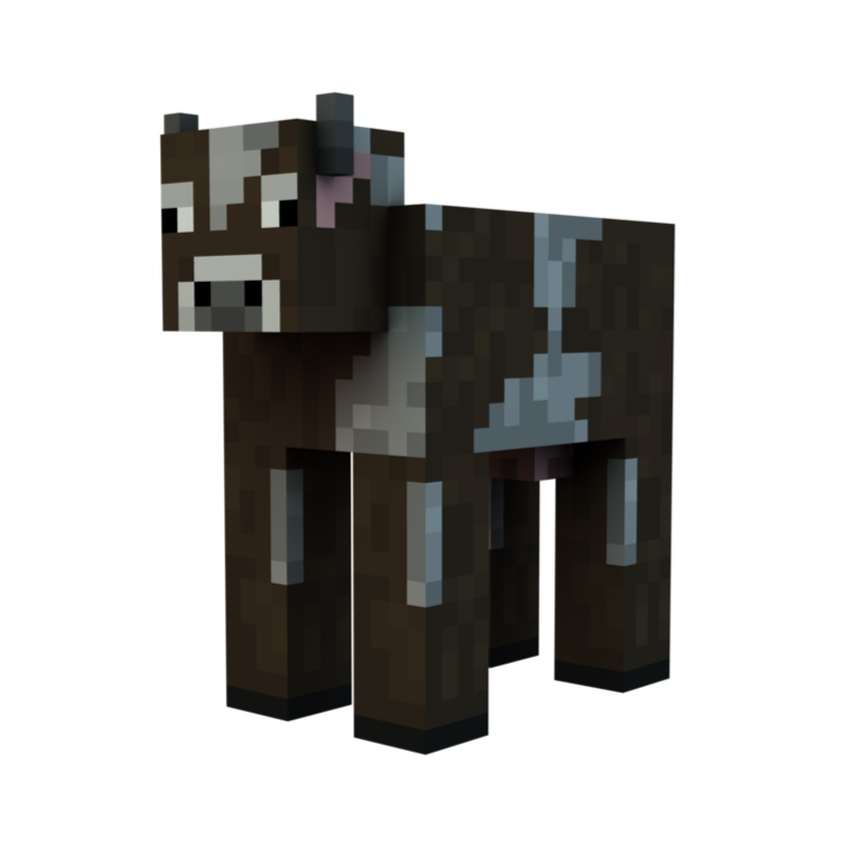 minecraft cow png