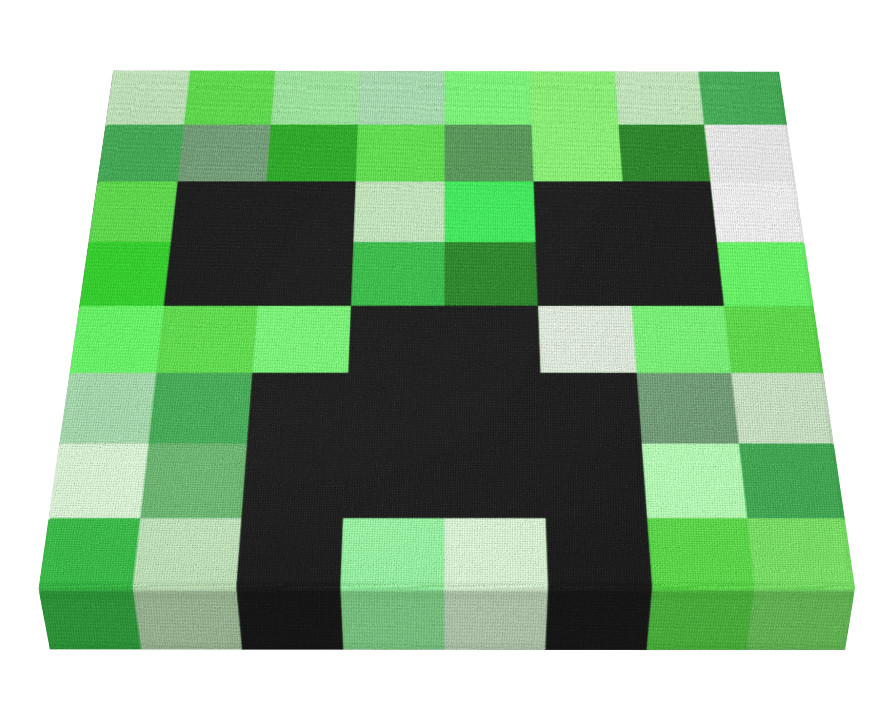 Minecraft creeper face png. Canvas pics on