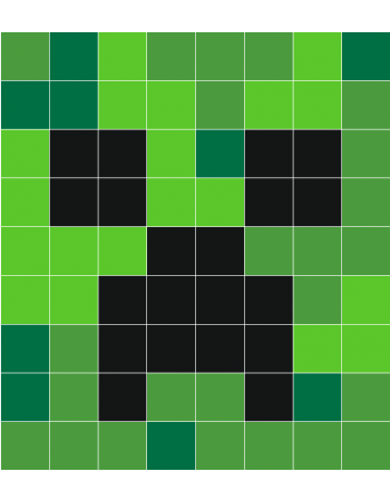 Minecraft creeper face png. Wall decals stickaz