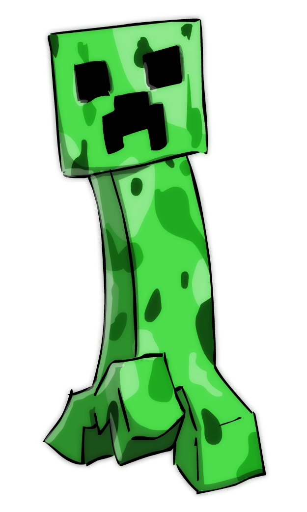 Popularmmos drawing creeper. Minecraft by sticko kun