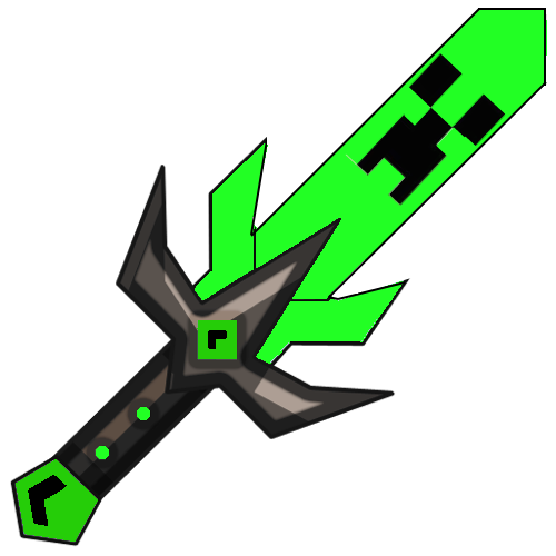 Minecraft custom swords png. Rainbow patterned hd and