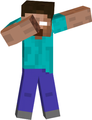 Minecraft dab png. Download hd steve transparent