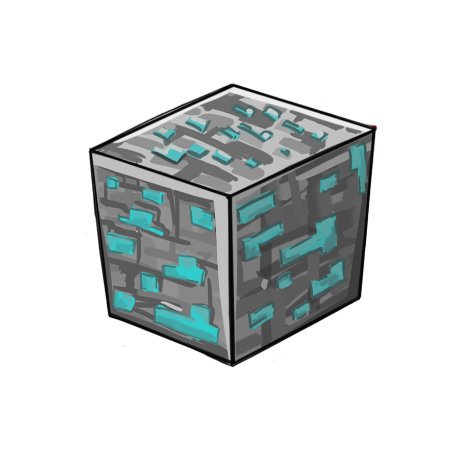 Stone minecraft png. Diamond block redsheep collestion