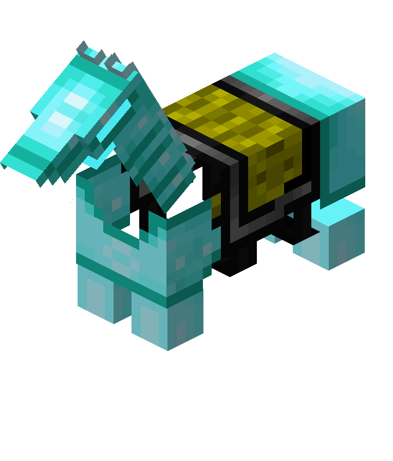 Minecraft diamond block png. File horse armor official